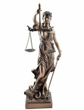 justitia,bronziert,30x8cm,figur,anwalt,polyresin,justicia,farbig,deko statue
