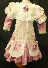 LARGE DRESS FOR ANTIQUE DOLL, DOLL CLOTHES, DOLL OUTFIT