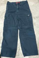 VINTAGE ABERCROMBIE AND FITCH PARATROOP MILITARY BLUE CARGO PANTS MEN'S SIZE XL