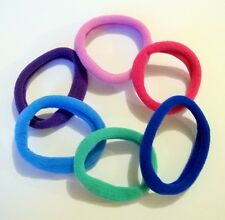 Lot de 6 élastiques à cheveux semi-épais en mousse Ø4.5cm multicolores ELA38B