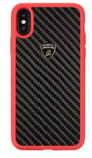Original Lamborghini Elemento D3 Carbon Cover Case Apple iPhone X XS Schwarz Rot