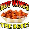 HOT WINGS DECAL (Choose Your Size) Chicken Concession Food Truck Vinyl Sticker