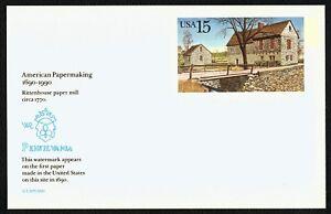 #UX145 15c Rittenhouse Paper Mill, Mint ANY 5=