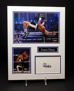 Donte DIXON Signed Mounted Photo Display AFTAL RD COA Boxer