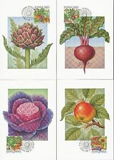 Sweden 2003 FDC - Maxi Card no 221 - 224 - Set of 4 Harvest Time Cards