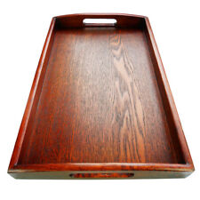 WOODEN BREAKFAST SERVING BED TRAY WITH HANDLES -30x20x3.5cm