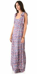 Tory Burch Gail Printed Floral Maxi Dress Size 2 $595