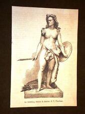 La Camilla Statua in marmo di C. Pandiani