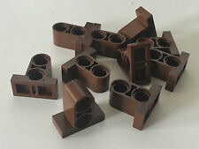 *NEW* 50 Lego REDDISH BROWN TECHNIC PIN Connector Plate 1 x 2 x 1 2/3 w 2 Holes