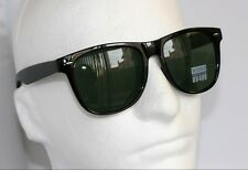 NEW EXTRA LARGE BLACK classic Retro VINTAGE 80'S SUNGLASSES Classic Shades @@