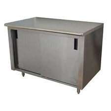 """Advance Tabco Cb-Ss-245M 60"""" Work Table With Cabinet Base"""
