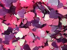Confettis biodégradables Violet Rose Et Blanc Cœurs - Grand sac LANCEMENT Fête
