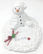 Personalised Christmas Baby Snowman Grave Memorial Xmas Festive Ornament Plaque