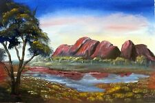 Original Australian Landscape painting in acrylic of Olgas Northern Territory