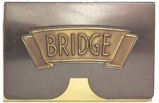 TWO Vintage Art Deco 1930's Metal BRIDGE Card Deck Storage Cases