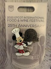 �� Chef Mickey Mouse 2020 Epcot Food And Wine Festival Le Disney Pin