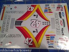 #42 Bell South Chevy NASCAR 1/24 SlotCar Vinyl Decal Set from Mid-America