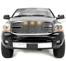 06-08 Ram 1500+06-09 Ram 2500+3500 Big Horn+3x LED Chrome Packaged Grille+Shell