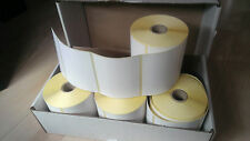 Box of 5x white thermal label rolls 100mm x 80mm labels CL-S521 CL-S621 CL-S631