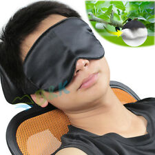 100% Pure Silk Sleeping Sleep Eye Mask Blindfold Lights Out Travel Relax Soft
