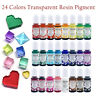 Crystal Epoxy uv Resin Adhesive Diy Special Transparent Color Gem Water 24 Color