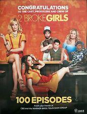 2 BROKE GIRLS Congratulations 100 Episodes Advertisement Kat Dennings Beth Behrs