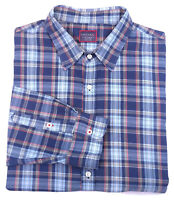UNTUCKIT Mens Size 3XL Blue Plaid Soft Flannel Button Down Long Sleeve Shirt EUC