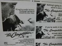 THE COMPETITION Movie Mini Ad Sheet VTG Advertising Poster Film Richard Dreyfuss