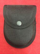 CONTOUR Black Ballistic Nylon Handcuff Case Belt Loop Snap Button