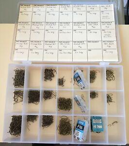 Fly Fishing hook File Box full of hooks many sizes