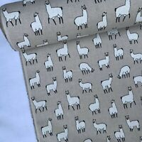 """Whales Design Cotton Rich Linen Fabric Curtaining /& Upholstery 54/"""" 140cm Wide"""