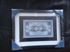 Harry Potter London to hogwarts platform ticket in frame new and sealed U.K.