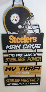 Pittsburgh Steelers Man Cave Forever Collectibles Hanging Sign My Turf My Team