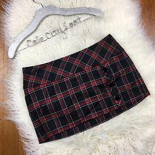 Bebe Mini Skirt Plaid 8 Wool Blend Plaid Schoolgirl Posh