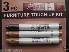 3pk Furniture Touch-up Wood Scratch Fix Stain Pen Medium Light DarkBrown Kit