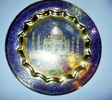 Vintage Brass Decorative Handpainted Wall Hanging Collector Plate Diwali Gifts