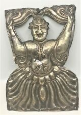 19th cent Repousse Sterling Silver South American Deity Spanish colonial plaque