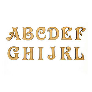 Wooden Letters Small Large 2cm-20cm MDF Wooden Craft Letters Scrapbook Alphabet