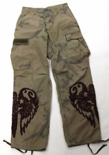 Theodore Ghetto Blaster Cargo Pants Embroidered Camo Size 0/S NWT