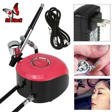 Mini Airbrush Compressor Air Brush Kit Spray Tattoo Nail Art Paint Gun Set Pink
