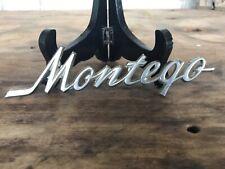 Vintage Mercury Montego Car Badge Emblem Letters - Original Stamped Backside
