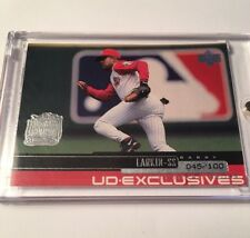 2000 BARRY LARKIN SN 045/100 UPPER DECK EXCLUSIVES LVL ONE #85 *701