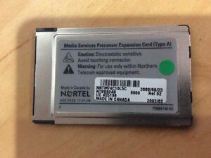 Nortel Norstar BCM 1000 NTBB80AB MS-PEC Media Services Processor Expansion