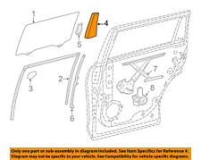 Toyota Oem 14-18 Highlander Glass-Rear Door-Divider Seal Right 674870E050