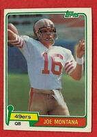 1981 Topps Joe Montana Rookie #216 San Francisco 49ers, Kansas City Chiefs, HOF