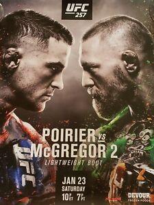 "UFC 257Poirier vs.McGregor 2 Official 22"" x 28"" Fight Poster NEW"