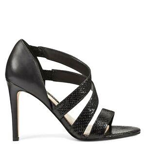 Nine West Idella Black Strappy Heels- Size 7.5 M- NIB