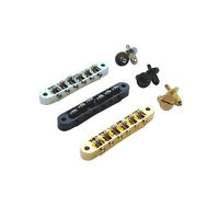 Tune-O-Matic M4 Bridge w/ Roller Saddles for Gibson Les Paul, SG, Gretsch