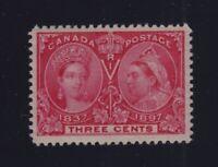 Canada Sc #53 (1897) 3c Diamond Jubilee VF NH