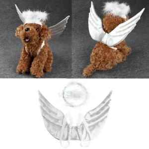 Pets White Angel Wings Harness Christmas Holiday Costume for Dog Puppy Cat Bunny